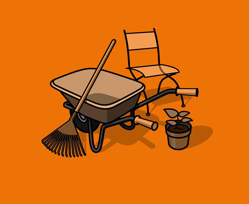 Suche Hilfe für Gartenarbeiten